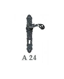 Дръжки за врата А 24 сервизна, цвят черна патина