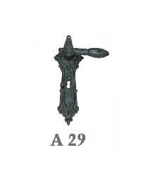 Дръжки за врата А 29 секр. и обик.- цвят черна патина и антик