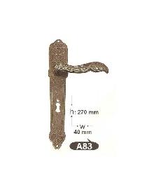 Дръжки за врата А 83 секр. и обикновенна, цвят черна патина