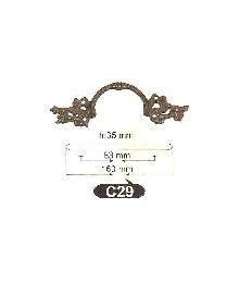 Дръжки за мебели месинг C29РАЗПРОДАЖБА-50%