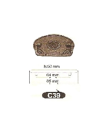 Дръжки за мебели-месингC39 РАЗПРОДАЖБА-50%