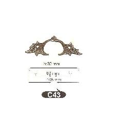Дръжки за мебели от месинг C 43