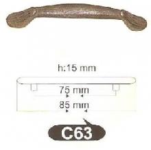Дръжки за мебели месинг C63РАЗПРОДАЖБА-50%