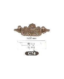 Дръжки за мебели месинг C74РАЗПРОДАЖБА-50%