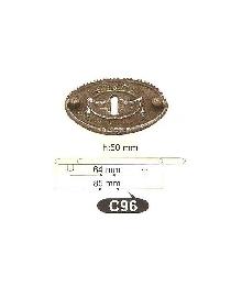 Мебелни дръжки месинг C96РАЗПРОДАЖБА-50%