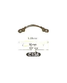 Дръжки за мебели месинг C136РАЗПРОДАЖБА-50%