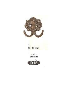 Закачалки от месинг D 15