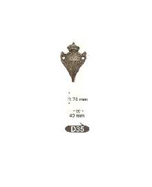 Закачалки от месинг D 35