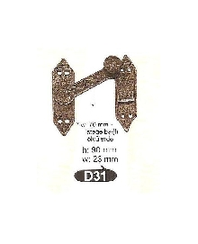 D 31 резе,матер.месинг,цвят оксит,антик