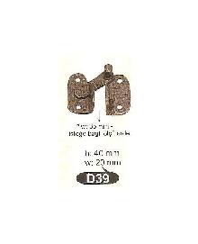 D 39 резе катинар,месинг,цвят оксит,антик