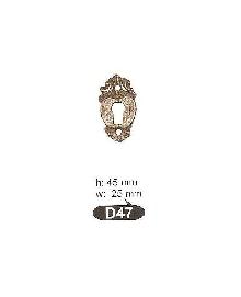 D 47 розетка-месинг-оксит,антик. ЛИКВИДАЦИЯ-50%
