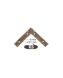E 5  Ъгли ,материал месинг,цвят оксит и  антик