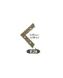 E 28   Ъгли ,материал месинг,цвят оксит и  антик