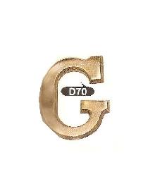 D 70 Букви 120мм,матер.месинг, оксит,антик