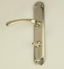 Дръжки за врата Е 19 08 08 цвят сатен, WC - комплект