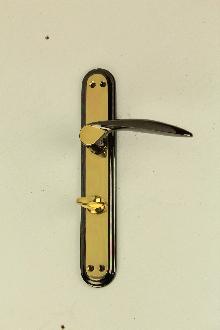 Дръжки за врата 28 01 03 WC черен никел / месинг комплект
