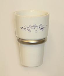 Аксесоари за баня порцелан,държач на чаша порцелан десен 108