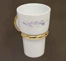 Аксесоари за баня порцелан,държач на чаша десен 108 злато
