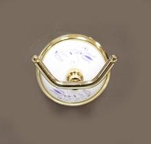 Аксесоари за баня порцелан,закачалка двойна-злато