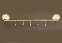 Аксесоари за баня порцелан,закачалка петорна злато
