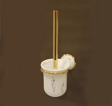 Аксесоари за баня порцелан,д-ч. на тоал.четка 108 злато