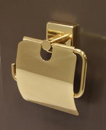 Аида-Аксесоари за баня порцелан,д-ч тоал.хартия злато