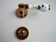 Дръжки за врати луксозни м-л РЕТРО роз.зл/сатен WC254