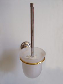 Аксесоари за баня,месинг,тоал.четка стъкло хром.щок