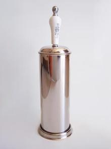 ,Тоалетна четка лукс инокс стояща бяло / хром
