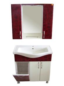 Шкаф за баня PVC 80см./6 бордо панер РАЗПРОДАЖБА цена