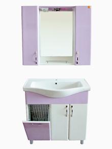 Шкаф за баня PVC 80см./6 лила панер РАЗПРОДАЖБА цена