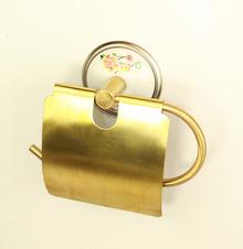 3.-----МОДЕЛ БОЛЕРО ЦВЕТНИ РЕТРО ЛУКСОЗНИ АКСЕСОАРИ ЗА БАНЯ   от месинг и порцелан - цвят старо злато НАМАЛЕНИЕ