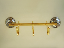 17.-----МОДЕЛ ЕЛИСА ХРОМ-ЗЛАТО, Луксозни аксесоари за баня от МЕСИНГ - НАМАЛЕНИЕ