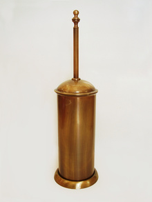 Тоал. четка лукс стояща месинг старо злато