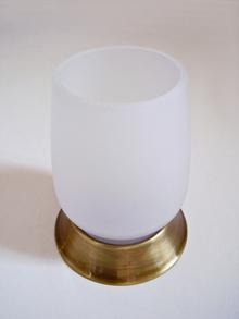 Брас-ст.злато.Чаша зъбни четки стояща месинг