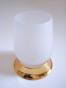 Чаша зъбни четки стояща месинг злато