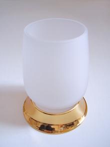 Чаша зъбни четки стояща месинг цвят позлата