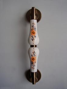 5.*****Дръжки за летящи врати-луксозни модел РЕТРО тип розетки цвят антик