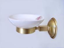 Аксесоари за баня от месинг сапунера за баня порцелан 174