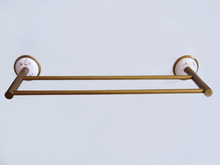 кърподържател 2-ен месинг/порцелан старо злато
