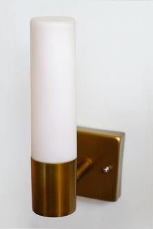 Електра,месинг.Аплик стенен лед кръгал абажур-50%