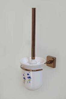 Аксесоари за баня месинг черв.злато тоал.четка порц.