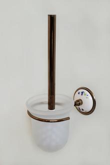 Аксесоари за баня-тоал.четка месинг/порц.- стъкл.конт.