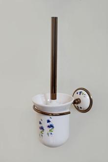 Аксесоари за баня-тоал.четка месинг/порц.- порц.конт.