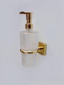 АидаД-ч стъклен доз. течен сапун месинг-позлатен
