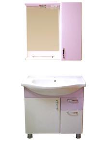 Шкаф за баня PVC68см4к.лилав РАЗПРОДАЖБА цена