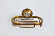 Сапунера за баня с обков от месинг-ст.злато/хром