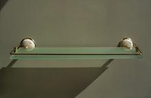 Етажера-месинг/порцелан,старо злато-протектор