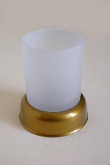 Стоящи.99028 чаша за зъбни четки-старо злато
