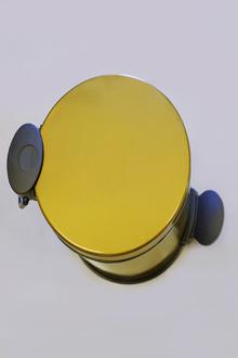 Тоалетен кош 5л.педал ст.злато овал